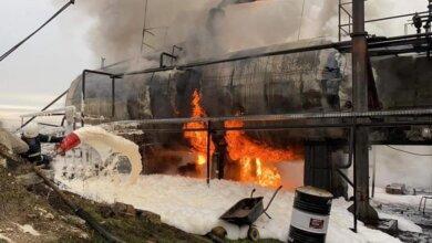 Полиция подозревает поджог: пожар на нефтебазе в Витовском районе   Корабелов.ИНФО