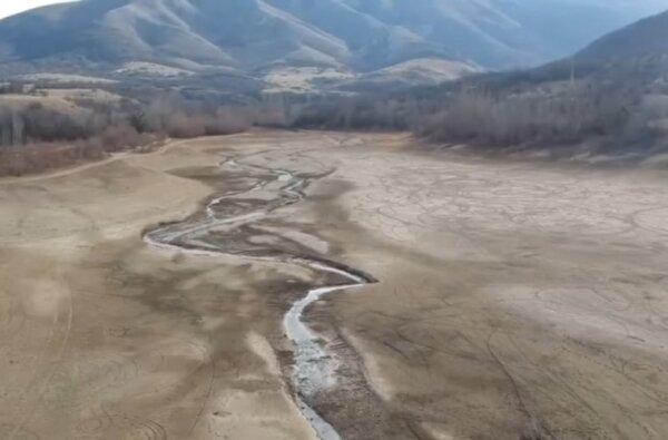 В оккупированном Крыму пересохло водохранилище, обеспечивающее пресной водой жителей Симферополя (видео)   Корабелов.ИНФО