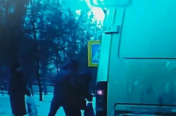 В Николаеве водитель едва не сбил мужчину с ребенком, после чего накинулся на них с кулаками (видео) | Корабелов.ИНФО