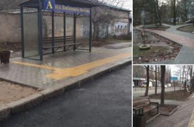 Адміністрація Корабельного району звітувала про ремонт тротуарів та встановлення нової зупинки | Корабелов.ИНФО image 3