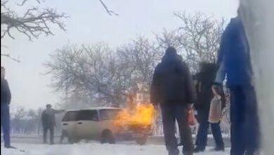 "пожар авто на ""Жукова"" 29.01.2021"