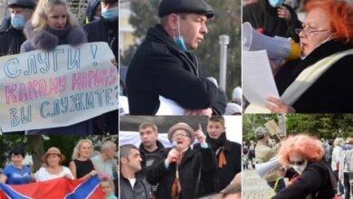 участники митингов в Николаеве