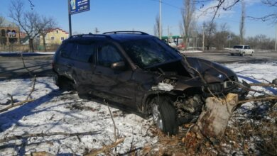 """ДТП на """"перегоне"""": BMW после столкновения с «зеленым» автобусом слетел с дороги   Корабелов.ИНФО image 4"""