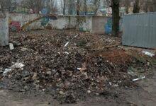прошлогодняя листва на ул. Океановской в Николаеве