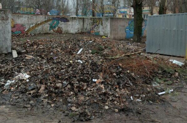 """""""А вокруг - срач. Это кошмар"""", - жители Корабельного района о мусоре и кучах листвы (видео)   Корабелов.ИНФО image 1"""
