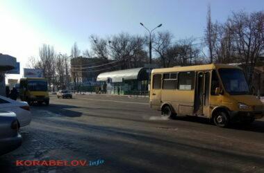 маршрутки №17 на пр. Богоявленском в Николаеве