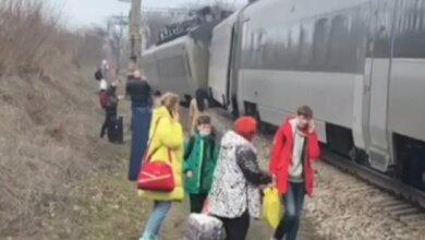 Сошел с рельсов пассажирский поезд Киев — Запорожье (видео) | Корабелов.ИНФО