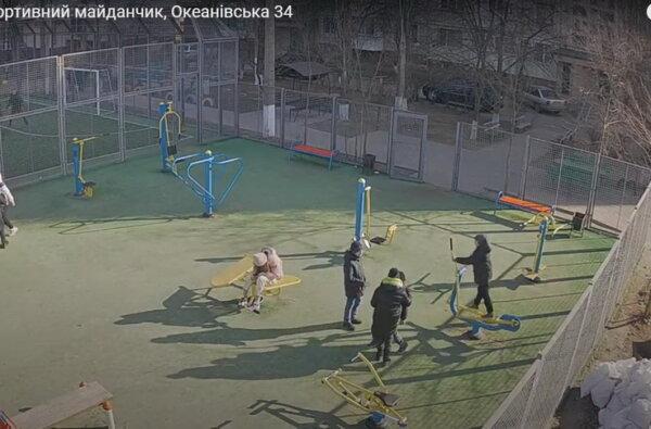 спортплощадка по ул. Океановской, 34