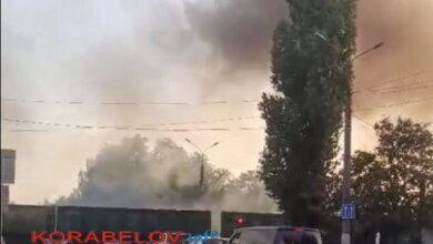 дымящий поезд в Корабельном районе г. Николаева (сентябрь 2020)