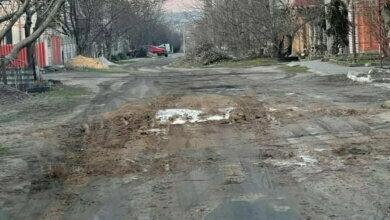 дорога в Балабановке по ул. Леси Украинки