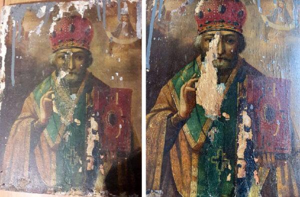 В Очакове около мусорных баков нашли икону 18 века: под верхним слоем оказалось еще одно изображение | Корабелов.ИНФО image 3