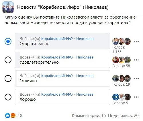 опрос по Николаевской власти в карантин