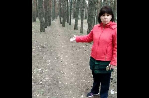 женщина в Балабановском лесу