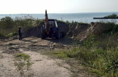 Добыча песка возле Лупарево