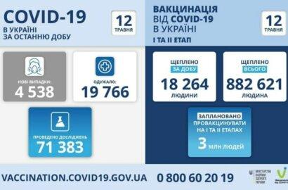 Коронавирус в Украине: 356 смертей за сутки и 4538 новых случаев   Корабелов.ИНФО