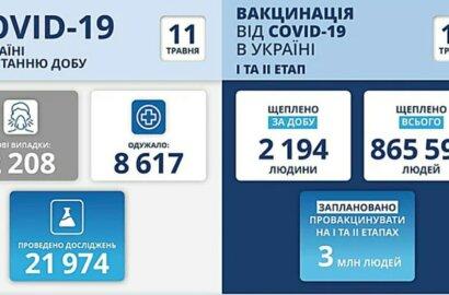 Коронавирус в Украине: 119 смертей за сутки и 2208 новых случаев   Корабелов.ИНФО