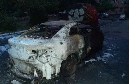 сгоревшее авто