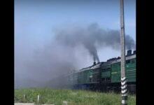 дым от поезда в Корабельном районе Николаева (24.06.2021)