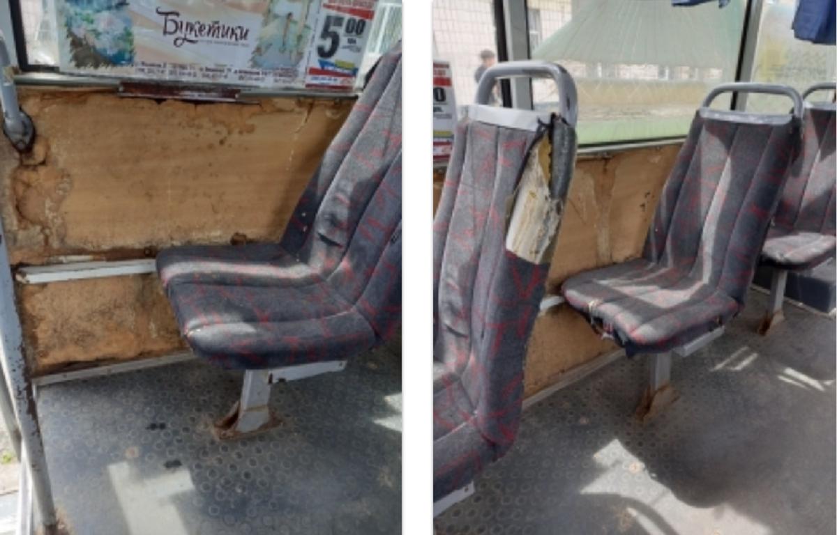 Ржавчина и рваные сидения: старая маршрутка заглохла на перегоне и не доехала до Корабельного района