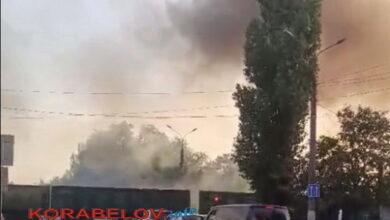 Дымящий поезд в Корабельном районе