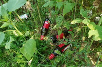 """мусор, бутылки в парке """"Богоявленский"""""""