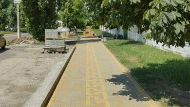 тротуар к 14 школе в Николаеве