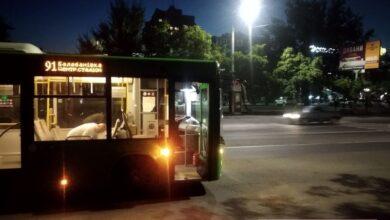 ДТП с зеленым автобусом