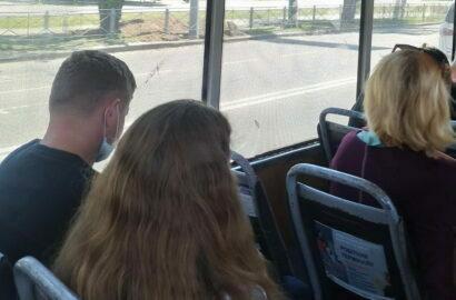 пассажиры в маршрутке