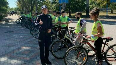 велопробег в Николаевской школе №44