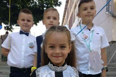 первоклашки Николаевской школы №1