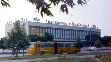 """Автовокзал """"Николаев"""" (архивное фото из ХХ века)"""