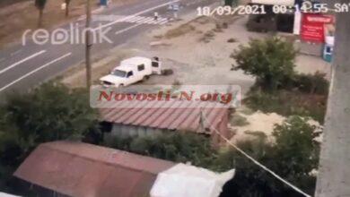 скрин с видео ДТП