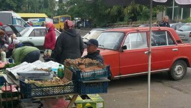 стихийная торговля в Корабельном районе Николаева
