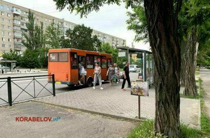 "1 маршрут, остановка ""Универсам"" в Николаеве"