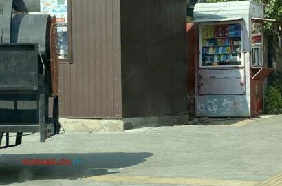 Гриль на тротуаре в Корабельном районе