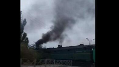 поезд, дым от тепловоза