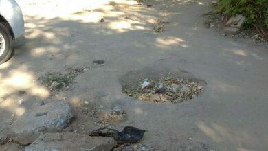 жалоба об разрушенном тротуаре на Новостройной