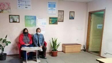 Посетители Центра вакцинации в Корабельном районе г. Николаева