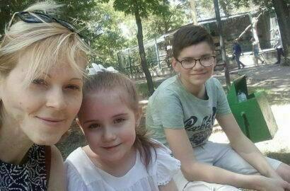 Вита Николаева с детьми