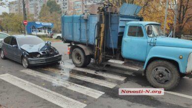 ДТП с мусоровозом