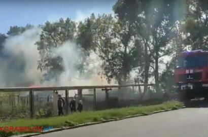 пожар на открытой территории в Корабельном районе Николаева (возле ул. Торговой)