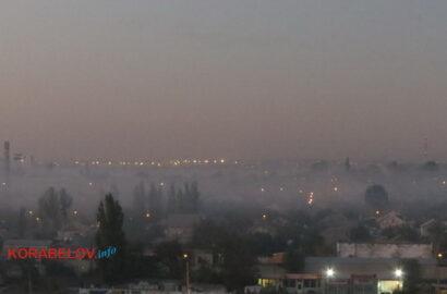 дым от костров над Корабельным районом