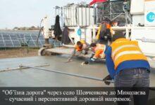 Строительство бетонной дороги