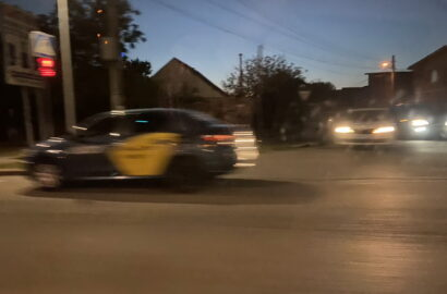 такси Уклон, попавшее в ДТП