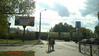 Ж/д переезд в николаеве, поезд