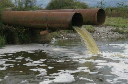 выбросы в реку
